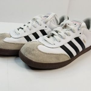Adidas Samba White Suede Women's 5.5 shoes/sneaker